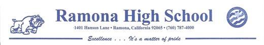 Ramona High School Letter Head