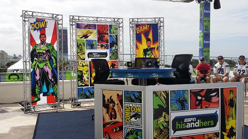 Comic Con Tri Panel