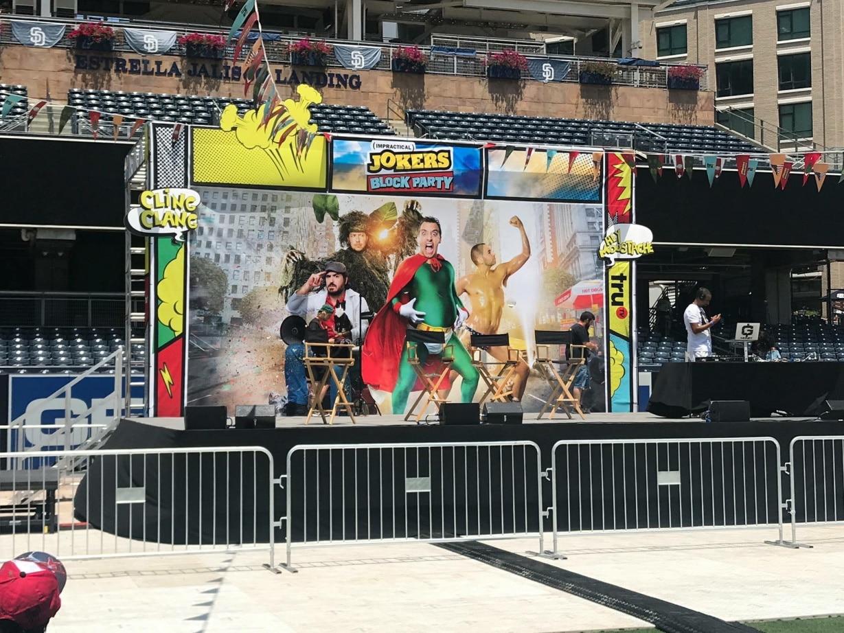 Comic Con Impractical Jokers Mural