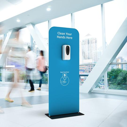 Display Stand with Automatic Hand Sanitier- Live